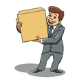 businessman delivery concept vector image