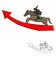 businessman on horseback jumping vector image
