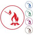 campfire silhouette icon vector image