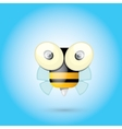 cartoon cute bright baby bee vector image vector image