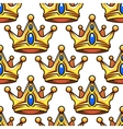 Cartoon golden crowns seamless pattern vector image vector image