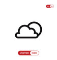 cloudy icon vector image vector image