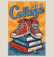 college vintage colorful template vector image