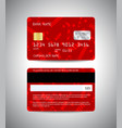credit cards set christmas and new year design vector image vector image
