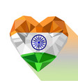 crystal flag of republic of india vector image