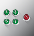 Currency Button vector image vector image