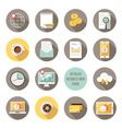 Detailed business web icons vector image