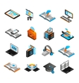 E-learning Isometric Icons Set vector image vector image