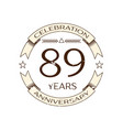 eighty nine years anniversary celebration logo vector image vector image