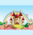 fairy at medieval castle vector image vector image