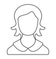 female user icon thin line vector image