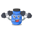 fitness large cartoon plastic barrel for water vector image