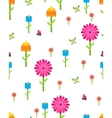 Garden flower party card template vector image vector image