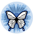 graphic element flower with butterfly vector image vector image