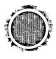 grunge tire track and circle vector image vector image