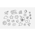 hand drawn doodle style elements isolated vector image