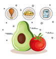 healthy eating design vector image vector image