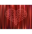 Heart of the stars on a red background vector image vector image