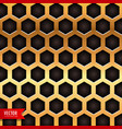honeycomb pattern in golden color vector image vector image