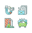 housekeeping services rgb color icons set vector image