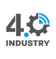 industry 40 smart factory concept logo gear