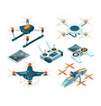 isometric 3d pictures of drone copters vector image