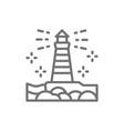 lighthouse fisgard victoria canada line icon vector image vector image