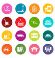 logistic icons many colors set vector image