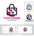 love shop logo designs vector image vector image