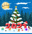 merry christmas and new year holiday greeting card vector image vector image