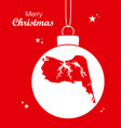 merry christmas theme with map of virginia beach vector image vector image