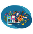 Music design set vector image