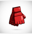 pair mma gloves mix martial arts equipment vector image vector image