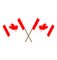 pair of flags of canada vector image