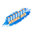 personal data text design vector image