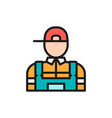plumber mechanic flat color line icon vector image vector image