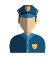 police agent avatar character vector image vector image