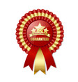 premium quality rosette placed on white background vector image vector image