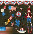 retro national american symbolic vector image vector image