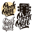 rock and roll music emblems labels badges vector image