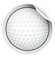 round sticker with golf ball vector image vector image