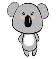 sad koala on white background vector image