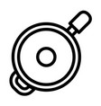 saute fry pan icon outline style vector image