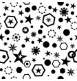 seamless geo pattern with black stars circles vector image