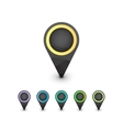 set geometric colorful map markers vector image
