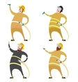 Set of firemans vector image vector image