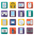 Set of flat appliances and electronic devices icon