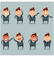 set of flat businessmen with phone vector image vector image