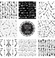 set of seamless pattern with tribal arrows vector image vector image
