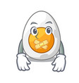 silent freshly boiled egg isolated on mascot vector image vector image